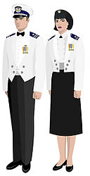cbe457d14d USCGAUX dinner dress white jacket
