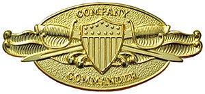 U.S. military instructor badges - U.S. Coast Guard Company Commander Insignia