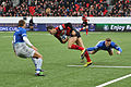USO - Saracens - 20151213 - Richard Wigglesworth, Guillaume Boussès and Chris Ashton.jpg