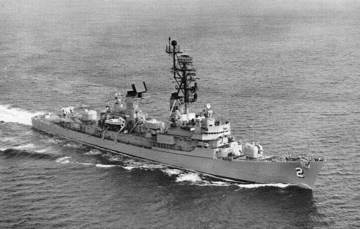 USS Charles F Adams (DDG-2) underway c1973