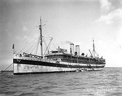 USS Comfort at anchor, c. 1919