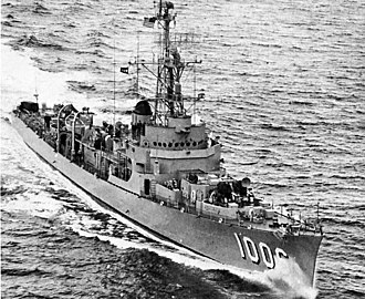 Destroyer escort - Image: USS Dealey (DE 1006) underway in the Atlantic Ocean on 28 May 1954