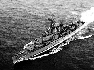 USS Hyman - USS Hyman (DD-732) underway in the early 1950s