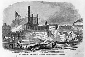 USS Essex (1856) - A contemporary illustration of the 1861 conversion of the steamer New Era into the gunboat USS Essex.