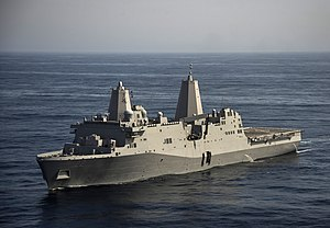 USS San Diego (LPD-22) underway in February 2014.JPG