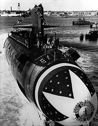 USS Sturgeon (SSN-637) - Image: USS Sturgeon (SSN 637) Launch