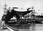 USS Ticonderoga (CV-14) leavin Norfolk in 1957.jpg