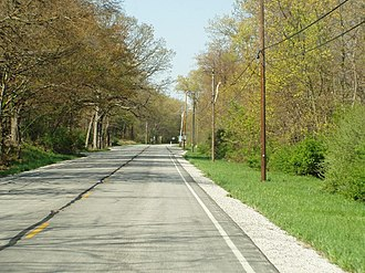 U.S. Route 12 in Indiana - U.S. 12 (Dunes Highway), westbound in Dune Park section