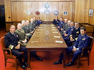 Joint Chiefs of Staff - The Joint Chiefs of Staff and several Commanders in Chief gathered at the Pentagon on 1 July 1983.