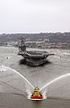 US Navy 040723-N-7615S-325 The Navy's newest and most technologically advanced aircraft carrier USS Ronald Reagan (CVN 76), enters San Diego harbor for a homeporting celebration, welcoming the ship to San Diego, Calif.jpg