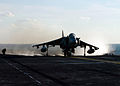 US Navy 050117-N-7506R-003 An AV-8B Harrier jet launches from the flight deck aboard the amphibious assault ship USS Kearsarge (LHD 3).jpg