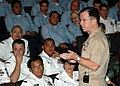 US Navy 051206-N-4965F-001 Chief of Naval Operations Adm. Mike Mullen addresses Sailors stationed on board Naval Station Pearl Harbor.jpg