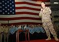 US Navy 061221-N-3080T-005 Chief of Naval Operations (CNO) Adm. Mike Mullen addresses Sailors in the ship's hangar bay aboard the Nimitz-class aircraft carrier USS Dwight D. Eisenhower (CVN 69).jpg