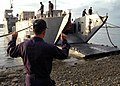 US Navy 070530-N-2296G-005 Filipino Sailors unload Landing Craft (LC) 293 as they prepare for Cooperation Afloat Readiness and Training (CARAT) 2007.jpg
