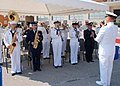 US Navy 070719-N-6544L-003 Commander, U.S. Naval Forces Europe-U.S. 6th Fleet Band plays the U.S. and Italian national anthems during the opening of the Commander, Navy Region Europe and Commander, Maritime Air Naples, change o.jpg