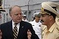 US Navy 070822-N-8154G-074 A translator explains the capabilities of the flight deck of multi-purpose amphibious assault ship USS Bataan (LHD 5) to Russian Fleet Adm. Vladimir Vasilyevich Masorin, Commander in Chief of the Russ.jpg