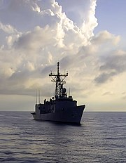 US Navy 070902-N-1810F-324 Guided-missile frigate USS Samuel B. Roberts (FFG 58) patrols the waters off the coast of Panama during PANAMAX 2007