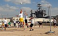 US Navy 071224-N-7317W-008 Sailors from USS Harry S. Truman (CVN 75) play volleyball while on liberty during a port visit.jpg