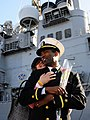 US Navy 081203-N-5345W-123 Ensign Jason Burroughs and his wife Kelli share a tender moment.jpg