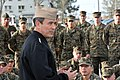 US Navy 100223-N-3289C-017 Vice Adm. Harry B. Harris Jr., commander of U.S. 6th Fleet, talks with Marines assigned to Fleet Anti-Terrorism Security Team (FAST), Company Europe, at Naval Station Rota.jpg