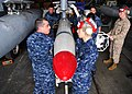US Navy 100419-N-9520G-002 tudents at the Center for Naval Aviation Technical Training Unit at Naval Air Station Whidbey Island prepare to remove a captive air training missile (CATM) 88.jpg