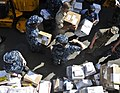 US Navy 110608-O-ZZ999-003 Sailors aboard USS Cleveland (LPD 7) sort mail during mail call.jpg