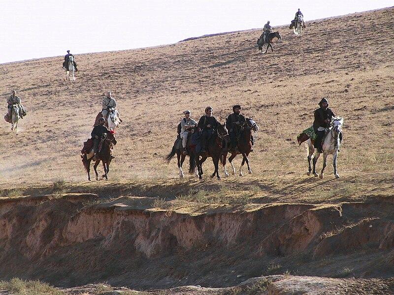 US soldiers on horseback 2001 Afghanistan.jpg