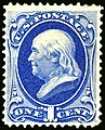 US stamp 1870 1c Franklin.jpg