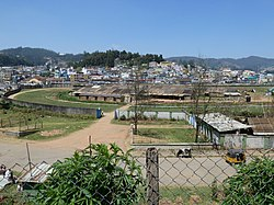 Racetrack in the center of Ooty