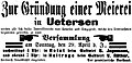 Uetersen Gründung einer Meierei 1894.jpg