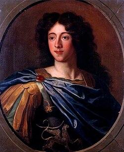 Undated oil on canvas portrait of François Louis de Bourbon, Prince of Conti by a member of the École Française.jpg