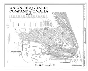 Union Stockyards (Omaha) - Site plan, 1925
