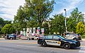 University of Iowa Police Squad Cars and Trump Unity Bridge Float, Iowa City (36605536036).jpg