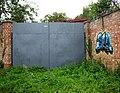 Unused gates off dirt road, northern Bury St. Edmunds - geograph.org.uk - 1479611.jpg