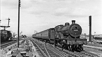 Cricklewood railway station - Up stopping train in 1950