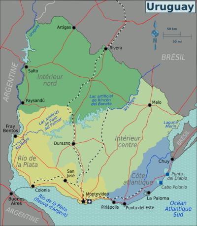 Carte Amerique Latine Uruguay.Uruguay Wikivoyage Le Guide De Voyage Et De Tourisme Collaboratif