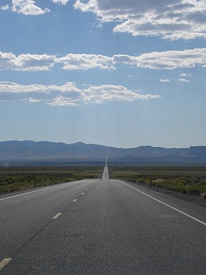 U.S. Route 50 in Nevada - US 50 stretching across the Nevada desert