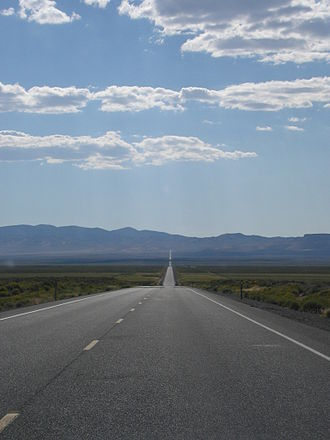U.S. Route 50 - US 50 in the Nevada desert