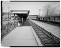 VIEW NORTH FROM INBOUND PLATFORM - Hartsdale Railroad Station, East Hartsdale Avenue, Hartsdale, Westchester County, NY HABS NY,60-HART,1-14.tif