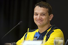 Vadym Svyrydenko of Team Ukraine speaks at the 2017 Invictus Games opening press conference.jpg