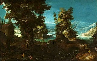 Landscape with a river and trees.