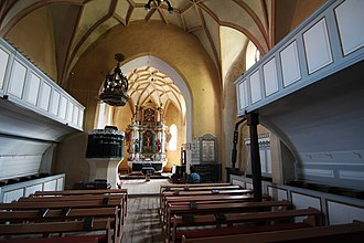 Valea Viilor fortified church - Church interior