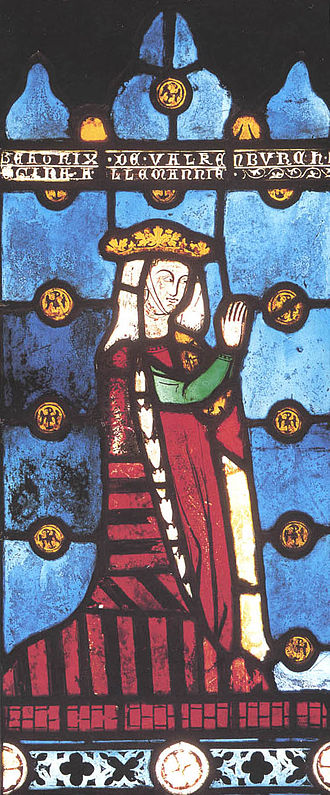 Richard, 1st Earl of Cornwall - 13th-century depiction of Beatrice of Falkenburg, Richard's widow, shown as queen of the Romans