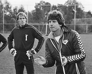 Hans van Breukelen - Van Breukelen and trainer Han Berger.
