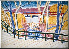 Van Cortlandt Park painting by Oscar Florianus Bluemner, created in 1936