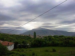 Velež (Bosnia and Herzegovina) - Velez Mountain seen from Ilici, Mostar