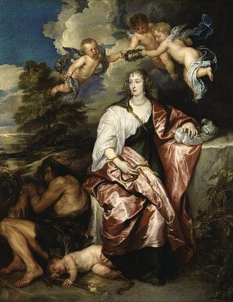 Venetia Stanley - Portrait of Venetia, Lady Digby by Sir Anthony van Dyck.
