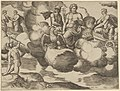 Venus in her dove-drawn chariot complaining to Jupiter who is accompanied by Mercury, from 'The Fable of Psyche' MET DP837620.jpg