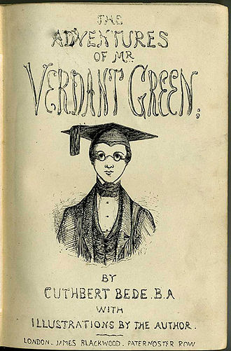 The Adventures of Mr. Verdant Green - Title page of early (1870s) printing.