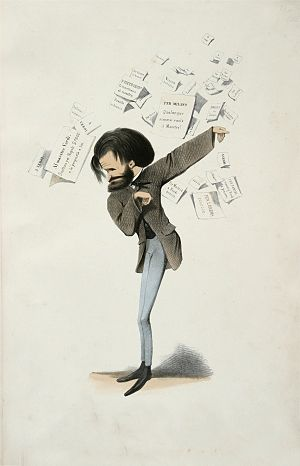 Melchiorre Delfico (caricaturist) - Giuseppe Verdi caricatured by Delfico (1860)